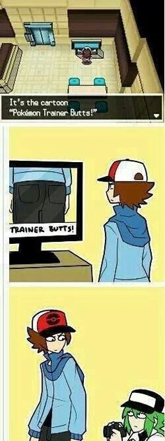 Funny Pokemon Pic - N & trainer - new TV show