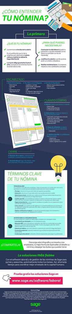 ¿Cómo entender tu nómina? #infografías | sage.es