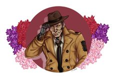 Nick Valentine sticker Fallout 4 by PrintsByEemamminy on Etsy