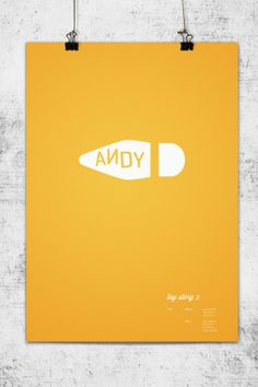 """Toy Story 2"", Carteles minimalistas de Pixar - #graphic #poster #print"