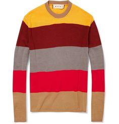 MarniStriped Cotton Sweater MR PORTER
