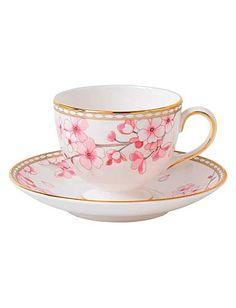 [[Wedgwood]] Prestige Spring Blossom Teacup and Saucer Set Leigh