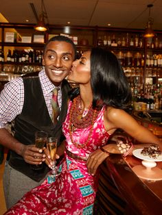 Chef Marcus Samuelsson (with wife Maya Haile)