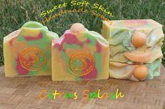 Citrus Splash Soap Bars by SweetSoftSkin on Etsy A blend of Grapefruit, Orange and Lemon in a refreshing bar of soap!