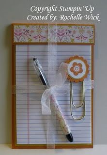 These would be ADORABLE for the girls at church! Notebook Gift Set (complete with matching pen)