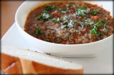 A Satisfying Supper: Lentil Soup with Homemade Whole Wheat Bread - MomAdvice