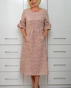 Vintage Skirt, Vintage Dresses, Casual Dresses, Fashion Dresses, Over 50 Womens Fashion, Boho Outfits, Beautiful Dresses, Short Sleeve Dresses, Shirt Dress