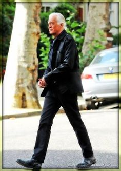 Jimmy Page in Chelsea, London. October 9, 2013
