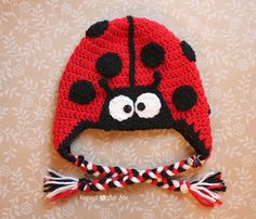Check out this cute ladybug hat pattern using Vanna's Choice from Repeat Crafter Me.