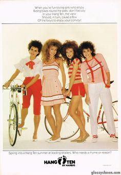 Glossy Sheen: Hang Ten Advertisement - Dolly October 1982