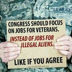 """"""" RT if u agree Congress should focus on jobs for vets instead of jobs for illegal aliens Meryl Streep, We Are The World, In This World, Veteran Jobs, Support Our Troops, Support Local, It Goes On, God Bless America, Before Us"""