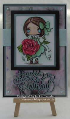 Tinyrose's Craft Room: Crafts Galore Encore Challenge Blog - May Challenge made with an image from Star Stampz and dies by Sue Wilson.