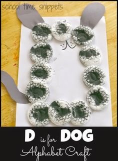 School Time Snippets: D is for Dog Alphabet Craft inspired by a Dalmatian.  Fun way to work on alphabet recognition and create a cute craft in the process!  Pinned by SOS Inc. Resources. Follow all our boards at pinterest.com/sostherapy for therapy resources.