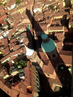 from the top of The Asinelli Tower. Bologna. it.