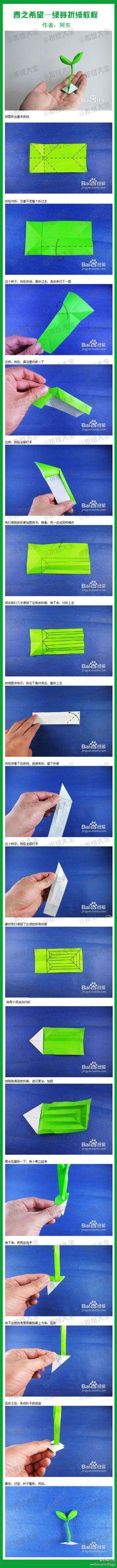 ๑۩۩..绿芽折纸 ..۩۩๑