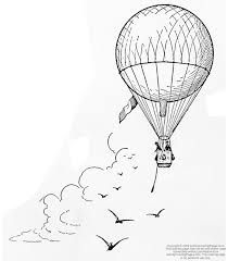 Image result for vintage hot air balloon drawing