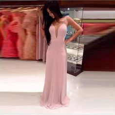 Find More Prom Dresses Information about Deep V Neck Pink Prom Dresses Sequined Floor Length vestidos do baile de finalistas Prom Gowns Sleeveless Spaghetti Strap Dress ,High Quality dress combination,China dress up girls dresses Suppliers, Cheap dress nepal from Cinderella Dreaming Dresses on Aliexpress.com