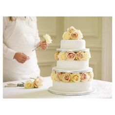 waitrose Wedding Cake - fruit £175 decorate yourself.  ned boards and legs, 25,20,15 85-110 people