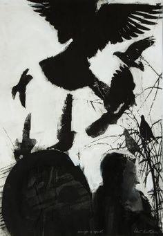 "Saatchi Art Artist: Pawel Kwiatkowski; Monotype 2009 Printmaking ""Sound of bells"""
