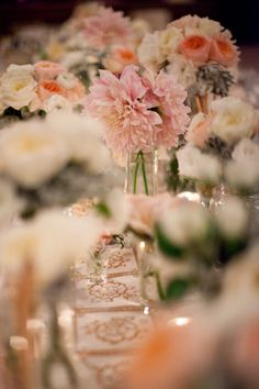 gold pink white and peach