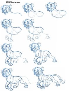 Big cat body tutorial by =KaiserTiger on deviantART  lion  tiger cub