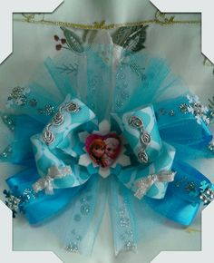 Frozen theme bow made by Norma's Unique Gift Baskets.$5.00