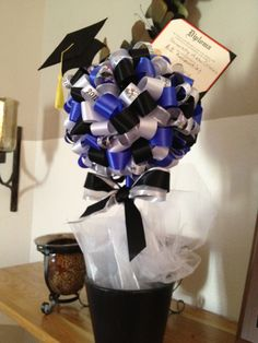 Graduation Party Ribbon Topiary