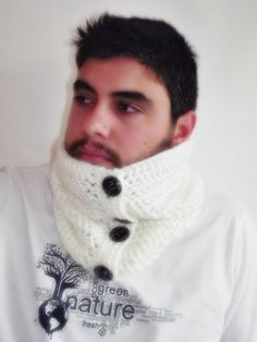 Mens neckwarmer cowl scarf valentines day gift  for by smilingpoet, $29.90
