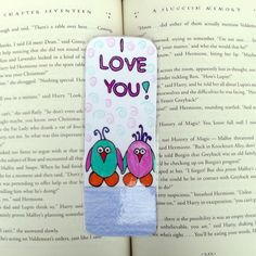 I Love You Birds Bookmark, Bird Bookmark, Children's Bookmarks, Kid's Christmas Gifts, Stocking Stuffers, Book Accessories, Bookmark by DivinitysDivineTouch on Etsy