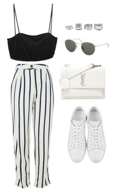 """Untitled #5189"" by lilaclynn ❤ liked on Polyvore featuring Topshop, A. Friend by A.F. Vandevorst, Yves Saint Laurent, Ray-Ban and Forever 21"