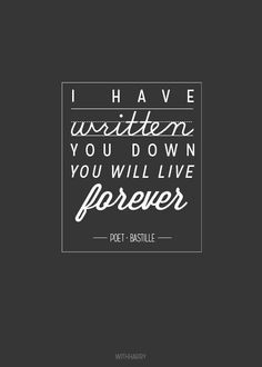 Poet Δ Bastille Bastille Quotes, Bastille Lyrics, Great Quotes, Quotes To Live By, Life Quotes, Just Lyrics, Song Lyrics, Beautiful Lyrics, Bad Blood