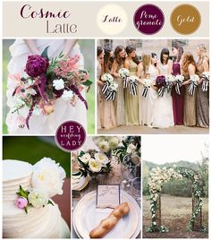 Inspiration Board Gold And Plum New Years Eve