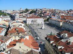 Praça do Rossio. Lisboa, Portugal