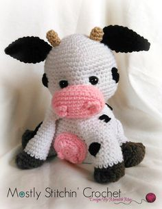 Sweet Cream the Cow CROCHET PATTERN PDF by MostlyStitchin on Etsy