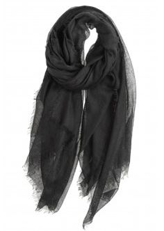 Sola Cashmere Scarf in Black