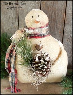 Primitive Snowman Patterns | PatternMart.com ::. PatternMart: Primitive Snowman First Snow EPATTERN