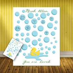 Lovely This Cute Rubber Duck BABY SHOWER signature print is a superb selection for a ba...