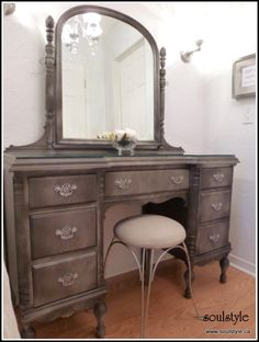 Love this refinished vanity