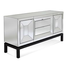 Shop this bassett mirror thoroughly modern 62 x 18 cappuccino & mirrored taney buffett from our top selling Bassett Mirror buffet tables & sideboards. LuxeDecor is your premier online showroom for dining room furniture and high-end home decor. Mirrored Sideboard, Modern Sideboard, Mirrored Furniture, Sideboard Buffet, Dining Room Furniture, Home Furniture, Console Table, Royal Furniture, Classic Furniture
