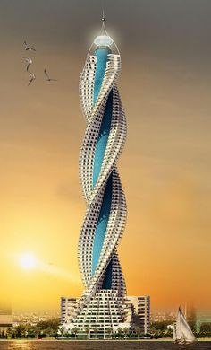 BeautifulWorld: Diamond Tower Jeddah Location: Diamond Tower, Jeddah, Saudi Arabia Completion Date: 2017 A striking twisting design with a diamond shape top, it is nothing but architectural excellence. Unusual Buildings, Interesting Buildings, Amazing Buildings, Modern Buildings, Unusual Houses, Dubai Architecture, Beautiful Architecture, Architecture Design, Classical Architecture