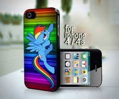 Cute Rainbow Dash Colorfull design for iPhone 4 or 4s case