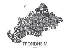 Plakat Trondheim (grå)