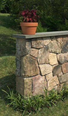 Bluestone rock wall