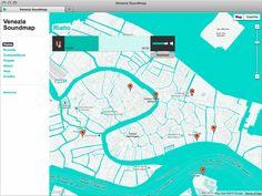 Venezia Soundmap by Andrea Buran, via Behance