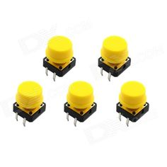 12 x 12 x 7.3mm; Diameter: 13mm Application: Phone button, Console buttons, Many places touch of a button, etc. http://j.mp/1oJmILr