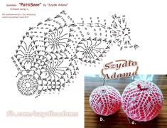 Witam:) To co wczoraj zobaczyłam na swojej tablicy na FB SZ Crochet Christmas Decorations, Christmas Crochet Patterns, Crochet Decoration, Crochet Ornaments, Crochet Snowflakes, Beaded Ornaments, Handmade Ornaments, Xmas Ornaments, Christmas Crafts