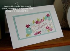Julie Kettlewell - Stampin Up UK Independent Demonstrator - Order products 24/7: My first Creation Station - SU - Endless Thanks