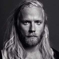 welovebeardedmen: Högni Egilsson blond long hair, bearded, steely eyes, beautiful man