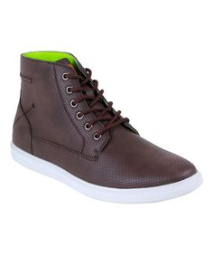 Dark Brown Chase Hi-Top Sneaker
