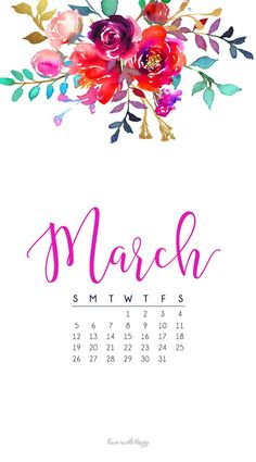 MARCH WALLPAPERS ARE HERE By Chloe march calendar